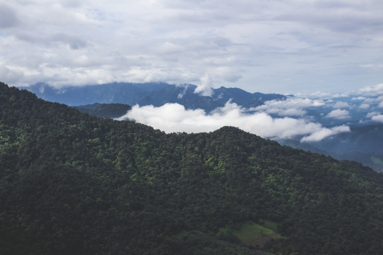 Mountains with clouds